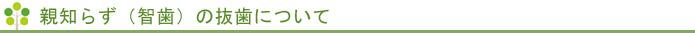 親知らず(智歯)の抜歯について,インプラント 大阪,デンタルクリニック 大阪,顎関節症,顎関節症 大阪,口腔外科,口腔外科 大阪,歯科 大阪,親知らずの抜歯 大阪,静脈内鎮静法 大阪,静脈麻酔 大阪,無痛治療,無痛治療 大阪,無痛抜歯,無痛抜歯 大阪